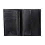 Antica Toscana Mens wallet with Coin Pocket Vertical format in Real Italian Leather Card & Money Holders Black