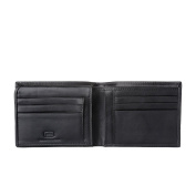 Antica Toscana Credit Card Wallet for Men in Genuine Leather with 9 Card Slots & 2 Note Pockets Black