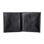 Antica Toscana Small Wallet for Men Bifold in Real Leather with Coin Pocket 8 Credit Card Holder and 2 Banknote Holders Black