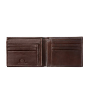 Antica Toscana Credit Card Wallet for Men in Genuine Leather with 9 Card Slots & 2 Note Pockets Chestnut