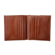 Antica Toscana Small Wallet for Men Bifold in Real Leather with Coin Pocket 8 Credit Card Holder and 2 Banknote Holders Terracotta