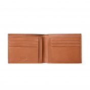Antica Toscana Slim Bifold Wallet for Men in Real Italian Leather with 6 Card Slots and Banknote facility Honey