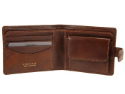 Visconti Mens Bifold Leather Wallet With RFID Blocking Fraud Protection - TSC47