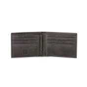 DUDU Men's Wallet Slim Bifold in Genuine Vintage Leather Purse with Credit Card & Bill Holders Black