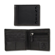 Exile Wallet Portomonnaie Leather Wallet with Debossed Logo Black