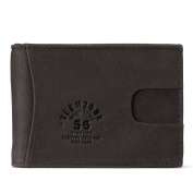 RFID Blocking Leather Wallet - Compact Ultra Thin Minimalist Front Pocket Money Clip Credit Card Holder Wallets for Men