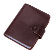 Esdrem Leather Credit Card Holder Business ID Card Case Book Style 60 Count Name Card Holder Book