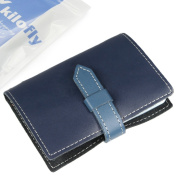 kilofly Credit Business Card Holder Name Card Case - Leather, Navy
