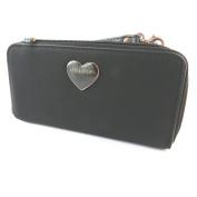 "Zippered wallet + chequebook holder 'Lollipops'black (2 compartments)- 19x10x4 cm (7.48""x3.94""x1.57"")."