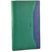 Fancil Chequebook Cover VERT FONCE/BLEU
