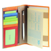 VANITY - Companion/Ladies cheque book holder/ leather wallet Red-Orange- A8521 - pen/stylus provided