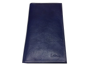 Vanity Case - All in One, Chequebook Holder, Business Card Holder, Wallet, Soft Leather, Blue