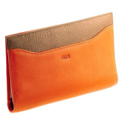 Vanity Women's Companion/Cheque Book Holder/Leather Wallet Orange-Taupe - A8521 - bstylo/Stylus
