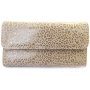 Leather wallet + chequebook holder 'Frandi' mole (leopard).