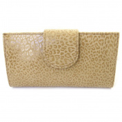 Leather chequebook holder 'Frandi' camel (leopard).