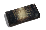 High Quality Faux Leather Tobacco Pouch - Triangle Forest