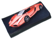 High Quality Faux Leather Tobacco Pouch - Red Sport Car