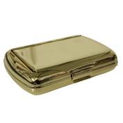 Gold coloured 30ml tobacco tin