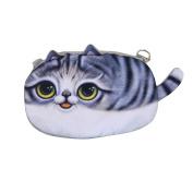 LA HAUTE Mini Phone Bags Cute Coin Purse Zipper Cosmetics Bags Shoulder Bags,Grey