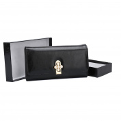 Ladies Flapover Credit Card Coin Leather Purses Gift Boxed in Black/Grey/Pink/Brown/Navy Blue Vegan Friendly