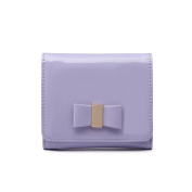 Miss Lulu Ladies Patent Leather Bow Purse Wallet Bag