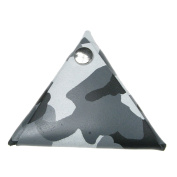 100% Real Leather Triangle Grey Camo Double Sided Coin Purse Made In England
