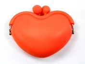 Silicone Coin Purse Heart Rubber Wallet Case Key Holder Storage Bags Small Card