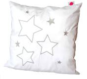 """Babymajawelt® Oreiller bébé """"Stars/étoiles"""" Les oreillers de 40x40 avec appliques brodé, décoratif"""