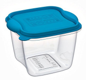 Freezer, microwave Containers Plastic Container, Lt 1.5 Square Container with Lid, The Container for Freezer