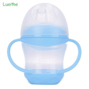 Luerme 160 ml Baby Learner Cup Water Bottle Cup Feeding Drinking Cup with Handles