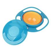 MagiDeal Non Spill Feeding Toddler Gyro Bowl 360 Rotating Kids Avoid Food Spilling