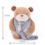 Metoo Cartoon Baby Leash Toddler Safety Harnesses Backpack Schoolbag Grey Bear