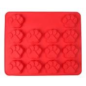 VALINK Dog Bone Dog Footprint Shape Silicone Baking Mould No-stick Baking Pan Mat, Biscuit Cake Cookies Chocolate Soap Bakeware Mould Kitchen Craft Tools - 30*25*2cm