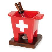 """Boska """"Swiss"""" Fondue Set, Brown/Silver/Rouge/White, 200 g"""