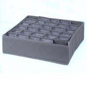 OUNONA 30 Grid Collapsible Storage Boxes Bra Underwear Closet Organiser Drawer Divider Underwear Box Tie Finishing Boxes