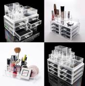 LOVM 6 Drawer ACRYLIC MAKE UP ORGANISER -Jewellery, Lipstick Storage, Make Up Brushes & Cosmetics