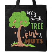 Inktastic My Family Tree is Full of Nuts Tote Bag Black