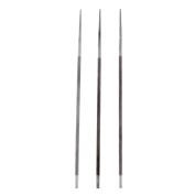 Veroda 4mm 3/8inch Round Sharpening Chainsaw Saw Chain Files Sharpener f/ Woodwork Pack of 3