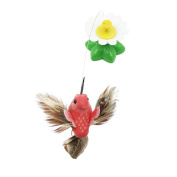ESHOO Funny Electronic Pet Cat Toys Rotating Bird Playing Toy for Kitten Cat, 1PC