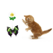 ESHOO Funny Electronic Pet Cat Toys Rotating Butterfly Playing Toy for Kitten Cat, 1PC
