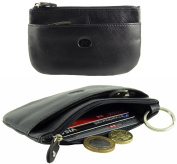 Ladies Mens Soft Leather Credit Card Holder & Coin Zip Purse