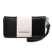 Miss Lulu Women Centre Stripe Purse Faux Leather Wallet Clutch Hand Bag