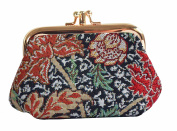 Signare Fashion Tapestry Double Clasp Metal Frame Purse