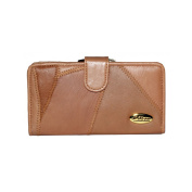 Je T'adore Patchwork Leather 17cm Purse with Wallet Section & Back Pass Pocket.