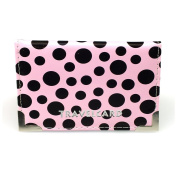 Polka Dot Bus Pass PU Leather Travel Card Holder Bi-Fold - Purple, Pink, White, Blue, Red by Lizzy®
