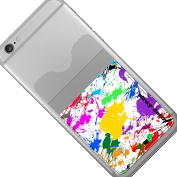 Stray Decor (Paint Splats) Stick On Adhesive Phone/Mobile Back Skin for Cards