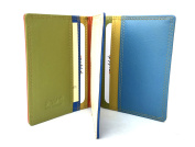 Golunski Multi Coloured Leather Credit Card Oyster Rail Travel Pass Holder.