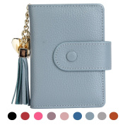 Women's Mini Credit Card Case Wallet with ID Window and Card Holder purse 9 Colours