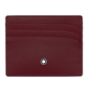 MONTBLANC CREDIT CARD HOLDER MEISTERSTUCK ATELIER 2 COMPARTMENTS RED 113724