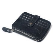 Badiya Fashion Woman/Men Retro Multi-functional Soft Leather Multi-card Driving Licence Wallet